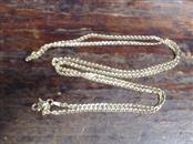 "30"" Gold Curb Chain 14K Yellow Gold 8.7g"